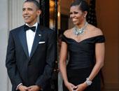 الرئيس الأمريكى أوباما وزوجته