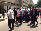 جانب من مظاهرات حملة الماجستير أمام مجلس الوزراء