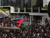 جانب من الاحتجاجات فى هونج كونج