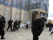 """اشتباكات داخل باحة المسجد الأقصى """"أرشيفية"""""""