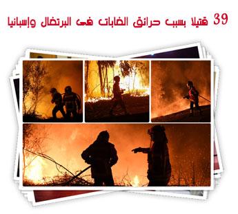 39 قتيلا بسبب حرائق الغابات فى البرتغال وإسبانيا