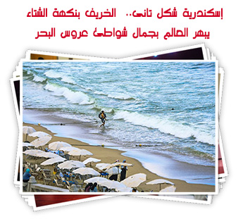 إسكندرية شكل تانى..  الخريف بنكهة الشتاء يبهر العالم بجمال شواطئ عروس البحر