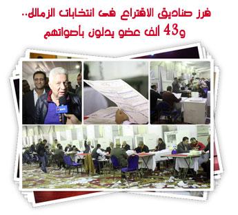 فرز صناديق الاقتراع فى انتخابات الزمالك.. و43 ألف عضو يدلون بأصواتهم
