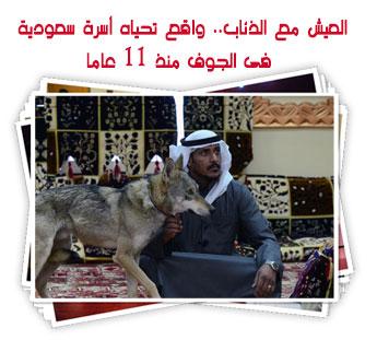 العيش مع الذئاب.. واقع تحياه أسرة سعودية فى الجوف منذ 11 عاما