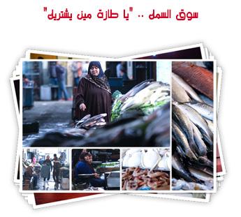 """سوق السمك .. """"يا طازة مين يشتريك"""""""