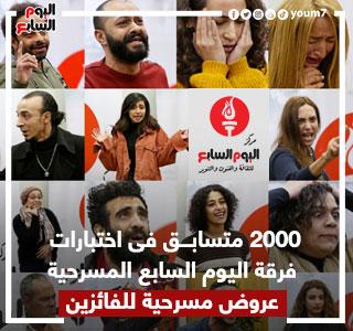 2000 متسابق تقدموا لاختبارات فرقة اليوم السابع المسرحية