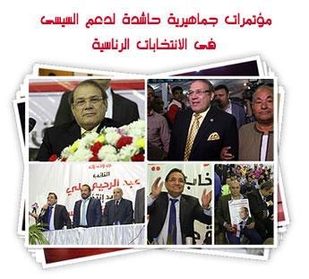 مؤتمرات جماهيرية حاشدة لدعم السيسى فى الانتخابات الرئاسية