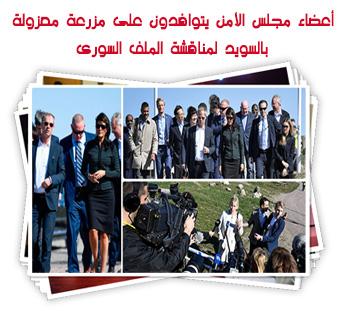 أعضاء مجلس الأمن يتوافدون على مزرعة معزولة بالسويد لمناقشة الملف السورى