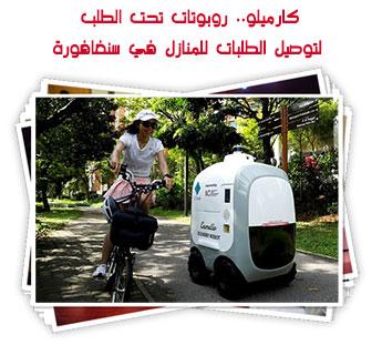كارميلو.. روبوتات تحت الطلب لتوصيل الطلبات للمنازل في سنغافورة