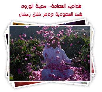 فدادين السعادة.. مدينة الورود فى السعودية تزدهر خلال رمضان