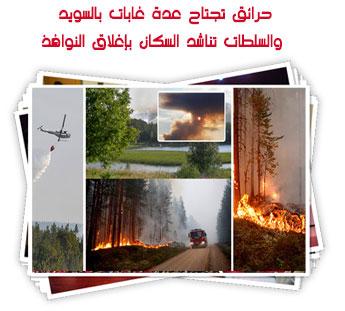 حرائق تجتاح عدة غابات بالسويد والسلطات تناشد السكان بإغلاق النوافذ