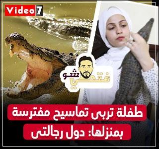 طفلة مصرية قلبها فولاذ تربى تماسيح مفترسة: دول رجالتي.. فتحى شو