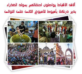 آلاف الأقباط يواصلون احتفالهم بمولد العذراء بدير درنكة بأسيوط للأسبوع الثانى على التوالى