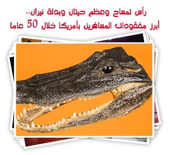 رأس تمساح وعظم حيتان وبدلة نيران.. أبرز مفقودات المسافرين بأمريكا خلال 50 عاما