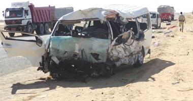 أسماء وفيات ومصابى حادث طريق  الخارجة - أسيوط  بالوادى الجديد  اليوم السابع