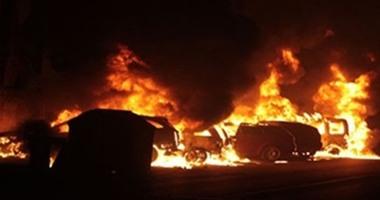 7 مصابين فى انفجار مدرعة مطار العريش والقوات تمشط المنطقة