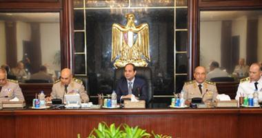 اليوم.. المجلس العسكرى يجتمع برئاسة السيسى فى وزارة الدفاع