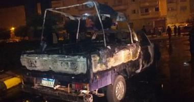 إصابة 3 مجندين بحروق وجروح إثر حريق سيارتى شرطة بالبحيرة