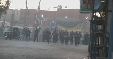 قوات الأمن تفرق تجمع عناصر الإخوان فى حلوان بقنابل الغاز