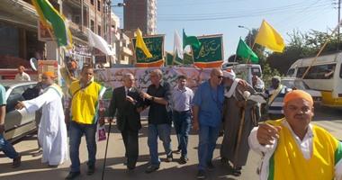 """بالصور.. مولد """"إبراهيم الدسوقى"""" يبدأ بمسيرة حاشدة للطريقة البرهامية"""