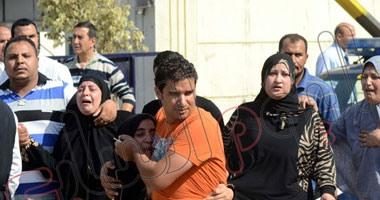 """تشييع جثمان أحد شهداء """"تفجيرات العريش"""" بالمنيا"""