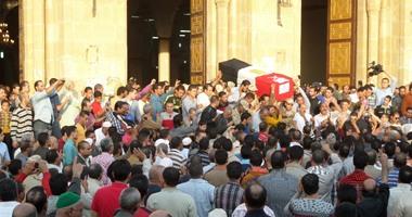 """الآلاف يشيعون جثمان الشهيد مازن حمدان فى """"برخيل"""" بالبلينا فى سوهاج"""