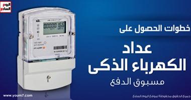 بالإنفوجرافيك.. خطوات الحصول على عداد الكهرباء الذكى مسبوق الدفع