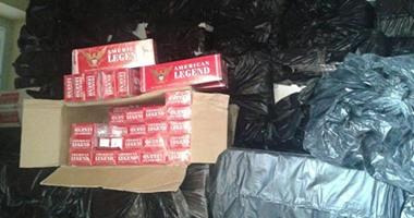 إحباط محاولة تهريب 16 ألف عبوة سجائر مجهولة المصدر فى الإسكندرية