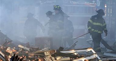 بالصور.. مقتل شخصين فى حريق هائل التهم منزلاً بمدينة كانساس الأمريكية