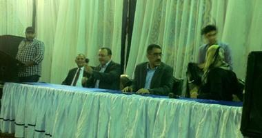 ضياء رشوان والسادات يدعمان عمرو الشوبكى فى مؤتمر انتخابى بأرض اللواء