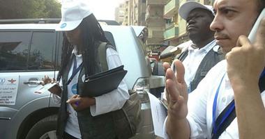 وفد البعثة الدولية المحلية لمراقبة الانتخابات يتفقد مدرسة أحمد زويل بالعمرانية