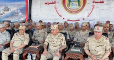 """وزير الدفاع يشهد المناورة """"رعد 24"""" بالمنطقة الغربية العسكرية"""