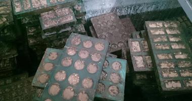 ضبط مصنع بداخله 160 كيلو حلوى منتهية الصلاحية فى بنى سويف