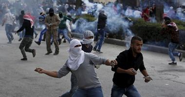 إصابات واعتقالات فى مواجهات بين فلسطينيين وقوات الاحتلال بالضفة الغربية