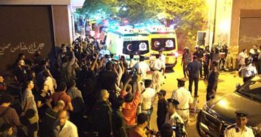 سيارة الإسعاف أمام مشرحة زينهم