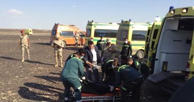 نقل ضحايا الطائرة الروسية