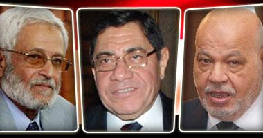 المستشار احمد مكى  والمستشارعبد المجيد محمود و المستشار الغريانى