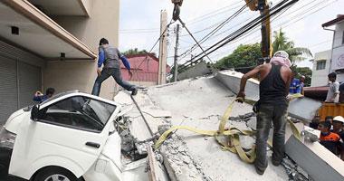 مصرع 5 أشخاص فى انهيار مبنيين جراء زلزال شمال الفلبين