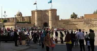 6 آلاف و500 زائر فى قلعة صلاح الدين ثالث أيام العيد