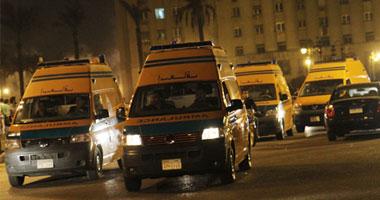 سيارات إسعاف تتجه لجامعة القاهرة