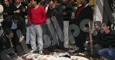 ننشر أول صور من موقع الانفجار أمام كنيسة القديسين بالإسكندرية