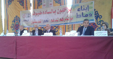 مؤتمر جماهيرى دعما للدستور فى قرية بالغربية