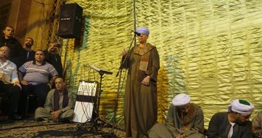 بالصور.. ياسين التهامى يبدأ وصلة الإنشاد باحتفال العارف بالله الدسوقى