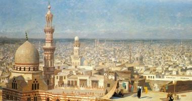 13 لوحة للمستشرقين تجسد الحياة والعمارة الإسلامية بمصر التاريخية