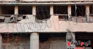 آثار تفجير مديرية أمن القاهرة