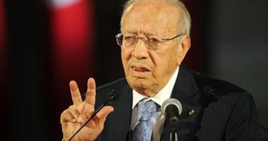 المرشح الرئاسى الباجى قائد السبسى رئيس حركة نداء تونس