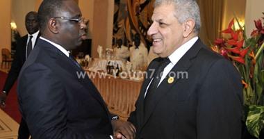 """""""محلب"""" يبحث مع الرئيس السنغالى العلاقات الثنائية بين البلدين"""
