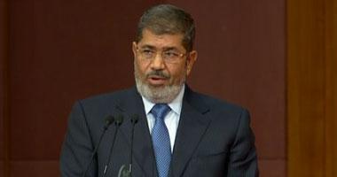 مرسى فى مراسم تسلم الدستور: علينا ألا ننسى تضحيات شهداء الثورة