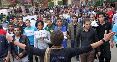 مسيرة طلاب جامعة عين شمس لقصر الإتحادية