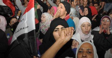 """معتصمو """"التحرير"""" يحتفلون بوصول المتظاهرين"""